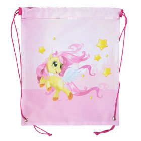 Мешок для обуви ACTION by TIGER, Let's by friends, Пони, разм.37 х 32 см, светло-розовый,для девочек