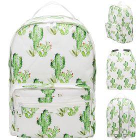 Рюкзак ACTION Кактусы, городской, размер 40х28х14 см, с принтом, мягкая уплотненная спинка, д/девочек