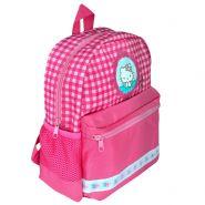 Рюкзак HELLO KITTY, детский, разм.30х27х11 см, розовый, мягкая спинка, светоотр. элементы