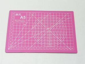 Коврик для резки, мат непрорезаемый, цвет розовый размер A5 22*15 см, толщина 3 мм (1уп = 3 шт)