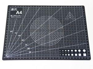 Коврик для резки, мат непрорезаемый, цвет черный размер A4 30*22 см, толщина 3 мм (1уп = 3 шт)