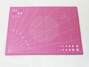 Коврик для резки, мат непрорезаемый, цвет розовый размер A4 30*22 см, толщина 3 мм (1уп = 3 шт)