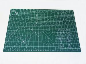 Коврик для резки, мат непрорезаемый, цвет зеленый размер A3 45*30 см, толщина 3 мм (1уп = 3 шт)