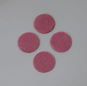 Фетровые пяточки 30мм, с прорезями, цвет № 02 розовый (1уп = 243шт)