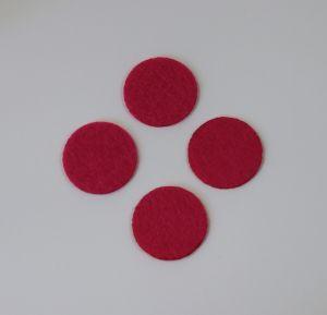 Фетровые пяточки 30мм, с прорезями, цвет № 03 ярко-розовый (1уп = 243шт)