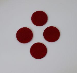 Фетровые пяточки 30мм, с прорезями, цвет № 07 темно-красный (1уп = 243шт)