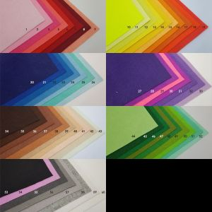 Фетровые пяточки 30мм, с прорезями, цвет № 14 (1уп = 243шт)