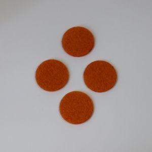 Фетровые пяточки 30мм, с прорезями, цвет № 16 оранжевый (1уп = 243шт)