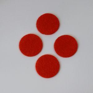 Фетровые пяточки 30мм, с прорезями, цвет № 18 кислотно-оранжевый (1уп = 243шт)