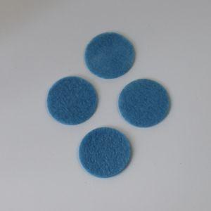 Фетровые пяточки 30мм, с прорезями, цвет № 24 голубой (1уп = 243шт)