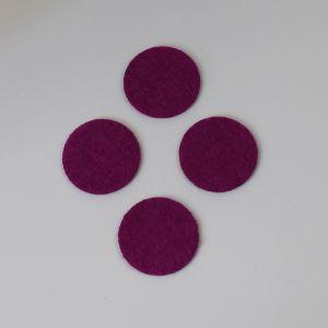 Фетровые пяточки 30мм, с прорезями, цвет № 30 ярко-фиолетовый (1уп = 243шт)