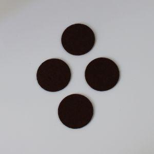 Фетровые пяточки 30мм, с прорезями, цвет № 35 коричневый (1уп = 243шт)