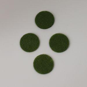 Фетровые пяточки 30мм, с прорезями, цвет № 47 оливковый (1уп = 243шт)