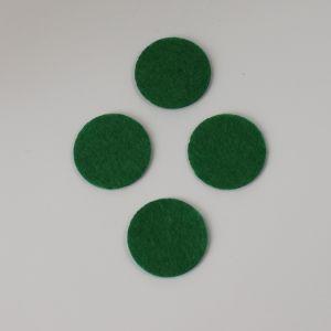 Фетровые пяточки 30мм, с прорезями, цвет № 48 зеленый (1уп = 243шт)