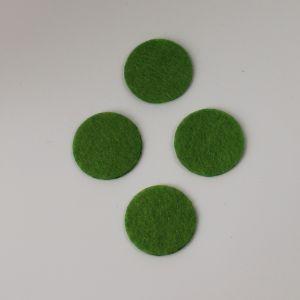 Фетровые пяточки 30мм, с прорезями, цвет № 49 светло-оливковый (1уп = 243шт)