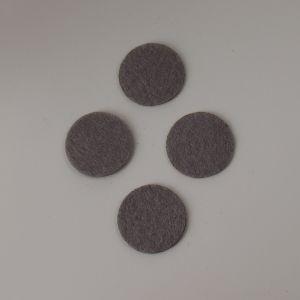 Фетровые пяточки 30мм, с прорезями, цвет № 57 серый (1уп = 243шт)