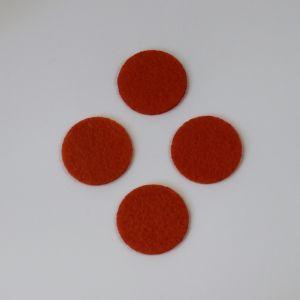 Фетровые пяточки 35мм, с прорезями, цвет № 17 темно-оранжевый (1 уп = 192 шт)