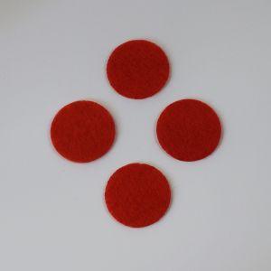 Фетровые пяточки 35мм, с прорезями, цвет № 19 алый (1 уп = 192 шт)