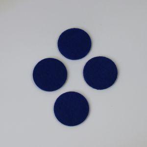 Фетровые пяточки 35мм, с прорезями, цвет № 21 темно-синий (1 уп = 192 шт)