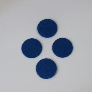 Фетровые пяточки 35мм, с прорезями, цвет № 22 синий (1 уп = 192 шт)