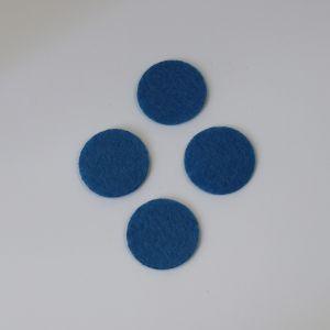 Фетровые пяточки 35мм, с прорезями, цвет № 23 светло-синий (1 уп = 192 шт)