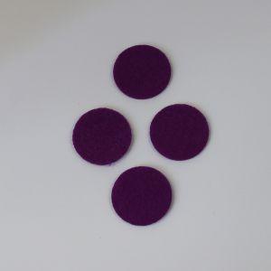 Фетровые пяточки 35мм, с прорезями, цвет № 27 темно-фиолетовый (1 уп = 192 шт)