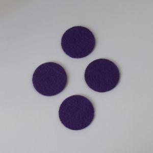 Фетровые пяточки 35мм, с прорезями, цвет № 32 сиреневый (1 уп = 192 шт)