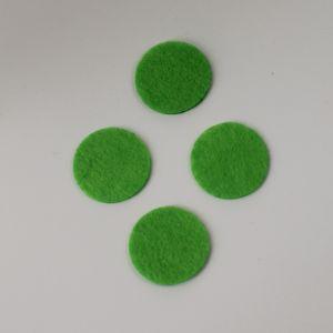 Фетровые пяточки 35мм, с прорезями, цвет № 50 светло-зеленый (1 уп = 192 шт)