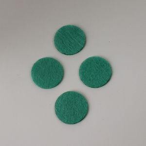 Фетровые пяточки 35мм, с прорезями, цвет № 51 мятный (1 уп = 192 шт)