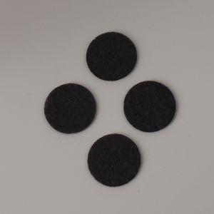 Фетровые пяточки 35мм, с прорезями, цвет № 55 темно-серый (1 уп = 192 шт)