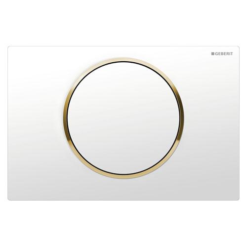 Кнопка смыва GEBERIT 115.758.KK.5 Sigma10 (белый, золото)