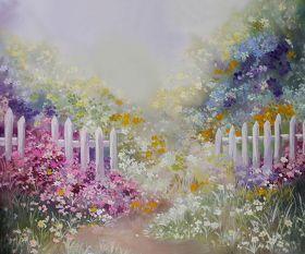 "Фон стена ""Flowers №3"" 2х1.5м"