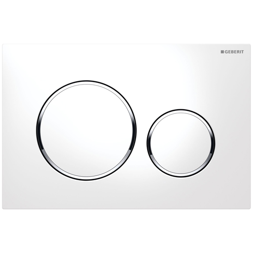 Кнопка смыва GEBERIT 115.882.KJ.1 Sigma 20 (бел/бел/хр.глянц)