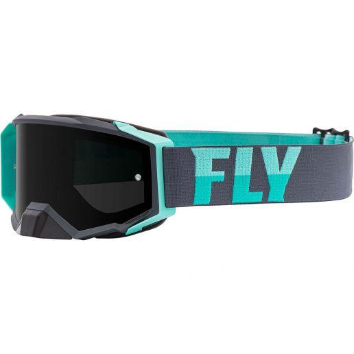 Fly Racing 2021 Zone Pro Grey/Mint Dark Smoke Lens очки для мотокросса