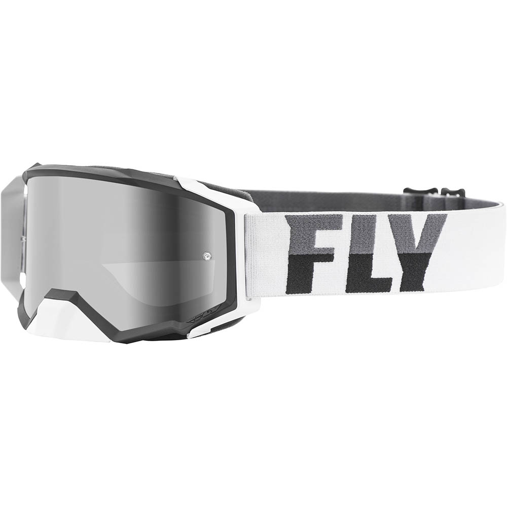 Fly Racing 2021 Zone Pro White/Black Dark Smoke Lens очки для мотокросса