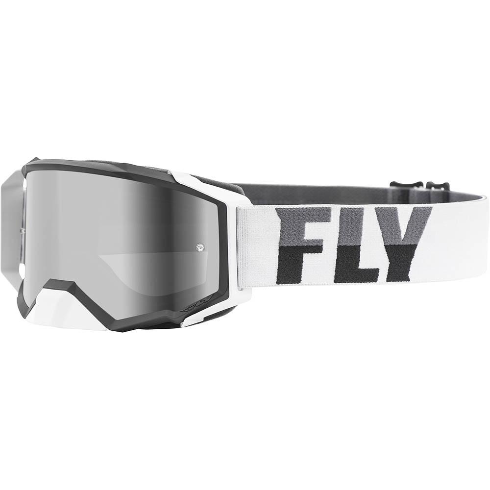 Fly Racing 2021 Zone Pro White/Black Dark Smoke Lens очки для мотокросса