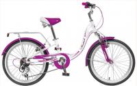 Детский велосипед Novatrack Angel 20 (2019) Белый (134078)