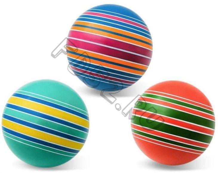 Мяч детский 20 см Серия Полосатики ручное окраш., в ассорт. 40474
