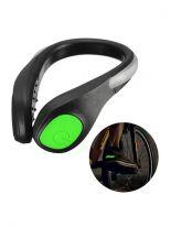 Светодиодная LED клипса для обуви, зеленый