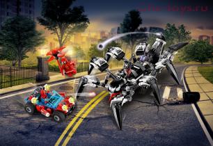 Конструктор LARI Super Heroes Краулер Венома 11502 (Аналог LEGO Super Heroes 76163) 431 дет
