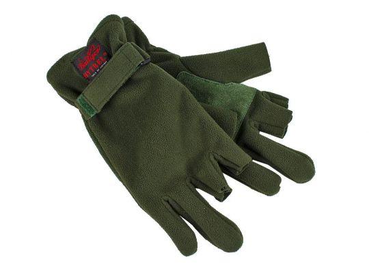 Перчатки из материала DuPont зелёный 3 открытых пальца 12043N