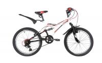 Подростковый горный (MTB) велосипед Novatrack Dart 20 6 (2020) Белый (139723)