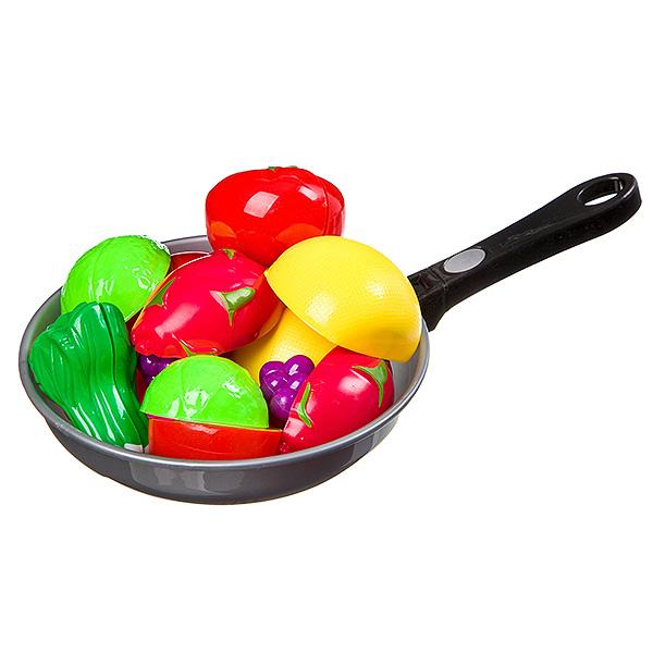 Набор сковородка с овощами на липуч. в сетке 31х19 см, арт. 3013C.