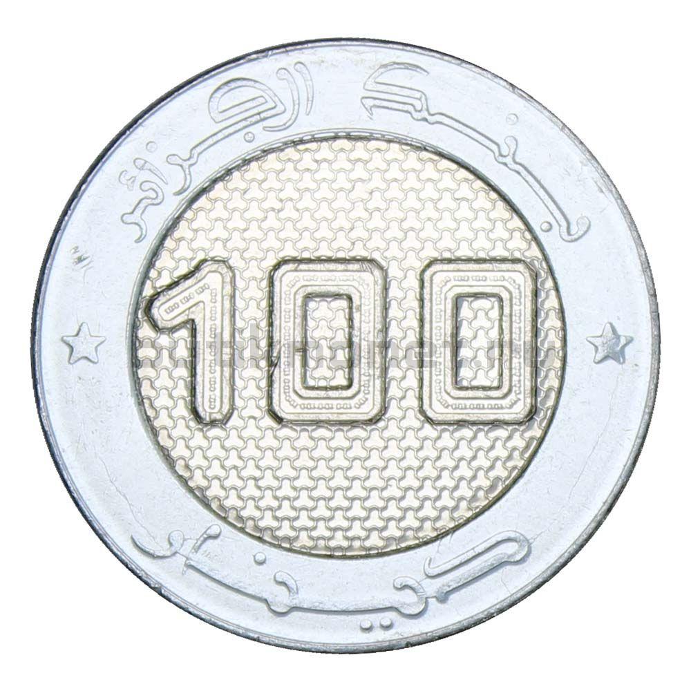 100 динаров 2019 Алжир Спутник связи Alcomsat-1