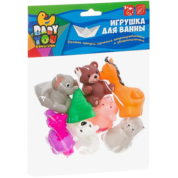 Набор игрушек для купания, BONDIBON, Зоопарк , 8 шт.