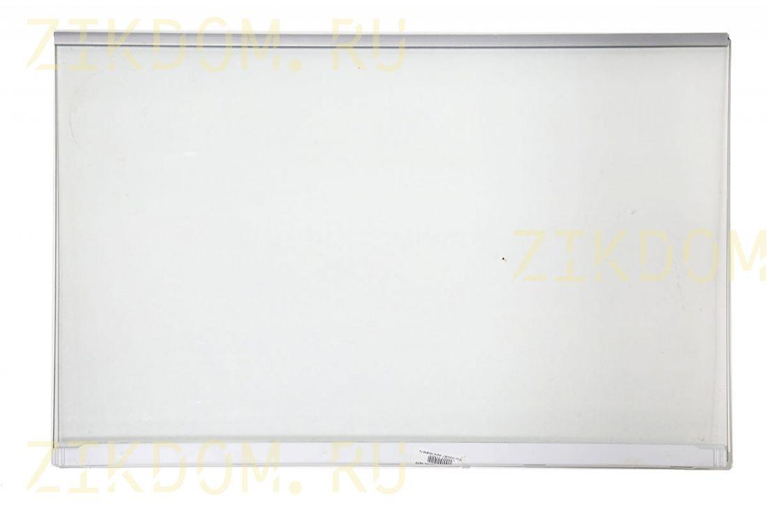 Полка-стекло с серебренным обрамлением холодильника Bosch Siemens