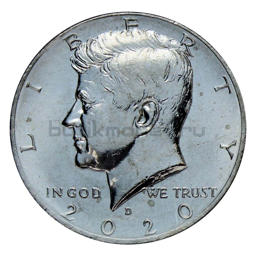 50 центов 2020 США Kennedy Half Dollar D
