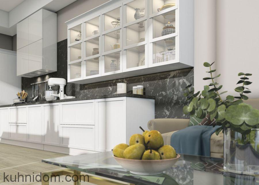 Кухня Брэра с витринами