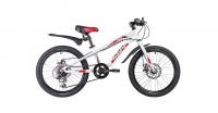 Подростковый горный (MTB) велосипед Novatrack Prime 20 Disc (2019) Белый (133970)