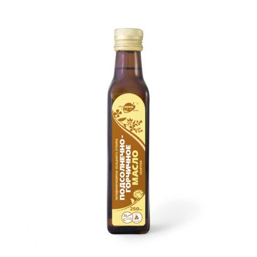 Подсолнечно-горчичное масло, стекло 0,25 л